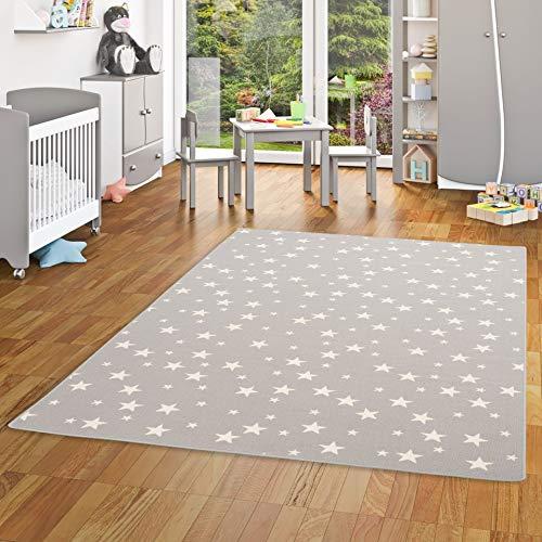 Alfombra Infantil Juego diseño Estrellas - Gris -