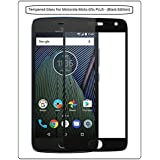 Annant Entp.™ Premium Quality Full Screen 0.3mm Pro+ Edge To Edge Coverage Premium Case Friendly 2.5D Curved 3D Tempered Glass Screen Guard Protector With Original Packaging Kit For Motorola Moto G5s Plus - (Black Edition)