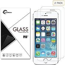 [2-Pezzi] iPhone se pellicola protettiva, LaTEC proteggi schermo in vetro temperato per Apple iPhone se/5S/5 C [Copertura Full Screen], 0.26 mm 9H durezza HD chiaro, anti-graffio e anti-impronte, trasparente