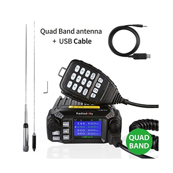 Radioddity Qb25 Pro Pmr Quad Band Quad Standby Mini Mobile Auto