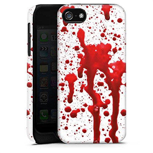 Apple iPhone X Silikon Hülle Case Schutzhülle Blut Halloween Gothic Tough Case matt