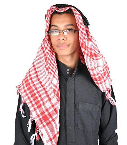 Scheich Arabischen Outfit (Traditionelle Arabische Kopfbedeckung Scheich - Araber Kopftuch- Karnevalskostüm/ Farbe:)