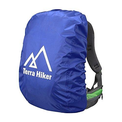 Terra Hiker Rucksack Regenschutz, Wasserdicht Regenhülle Regencover (Saphirblau (S 30L-50L))