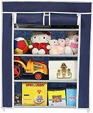 Happer Premium 4-Tiers Shoe Rack/Multipurpose Storage Rack with Dustproof Cover, (Blue)
