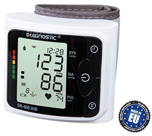 DIAGNOSTIC DR-605 IHB Vollautomatische digitale Armbanduhr Blutdruckmessgerät mit unregelmäßigen Herzschlag Indikator