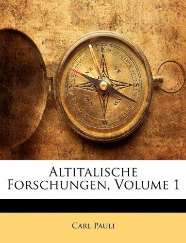 Altitalische Forschungen, Volume 1