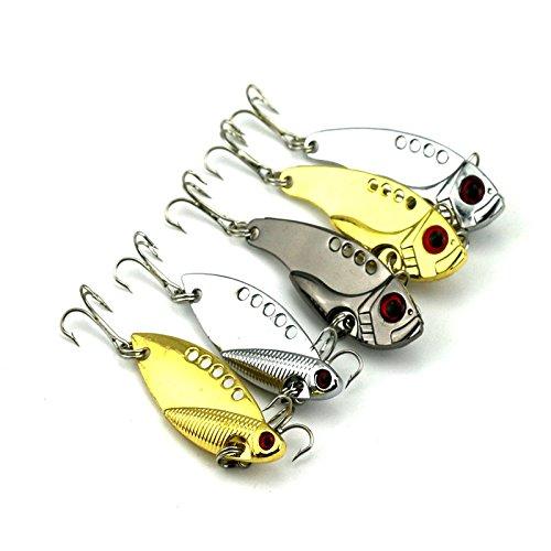 Origlam Lot de 5leurres de pêche avec hameçons pour la pêche au bar