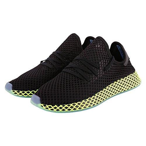 adidas Jungen Deerupt Runner Fitnessschuhe, Schwarz (Negbás/Azucen 000), 37 1/3 EU
