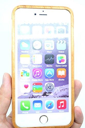 RoseFlower® Coque iPhone 6S Plus 5.5'' en Bois Véritable - Éléphants bois cerises - Fabriqué à la main en Bois / Bambou Naturel Housse / Étui avec Gratuits Film de Protecteur Écran pour votre Smartpho Cerisier des bois Noël
