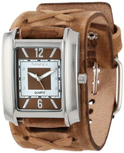 Nemesis BFXB013B - Reloj de pulsera hombre, piel, color Marrón