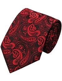 Jason/&Vogue Designer Krawatte in rot bordeauxmit feinem Muster