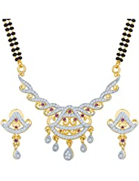 The Luxor Australian Diamond Studded Double Chain Mangalsutra Set For Women(MS-1410)