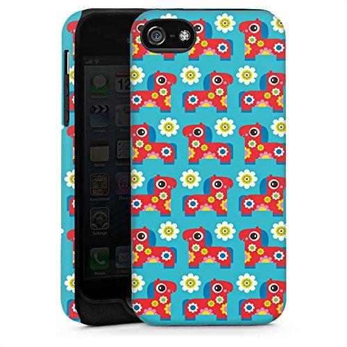 Apple iPhone 6 Housse Étui Silicone Coque Protection Fleurs Fleurs Cheval Cas Tough brillant