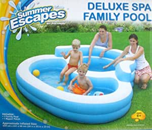 Deluxe spa family paddling pool toys games for Large paddling pool