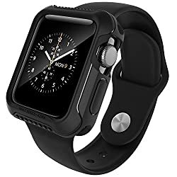 Apple Watch 2 Case 42mm, Caseology [Vault Series] Rugged Protective Slim Shock Resistant Tpu Bumper [Matte Black] For Apple Watch Series 2 (2016) - 42mm Only