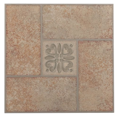Achim Home Furnishings ftvma42120Nexus 12Zoll Vinyl Fliesen, Marmor beige terracotta Motiv Center, 20er Pack