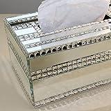 WEEKDEGY Kleenex - Box Hoch - Grad Papiertuch-Kasten Luxus Continental Kreative Kristall-Diamant-Pumping Papierkästen Wohnzimmer Couchtisch Papiertücher Boxen Serviette Box (Farbe : Weiß)