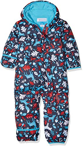 Columbia Schneeanzug für Kinder, Snuggly Bunny Bunting, Polyester,  - Rot, Blau (Red Camellia Deers, Atoll) - 6/12 months