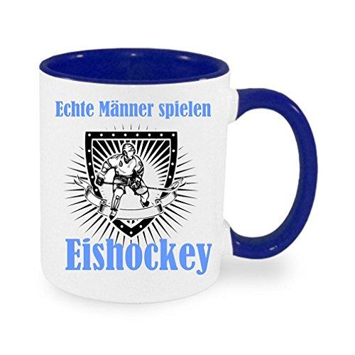 ' Echte Männer spielen Eishockey ' - Kaffeetasse mit Motiv, bedruckte Tasse mit Sprüchen oder...