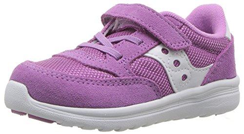 Saucony Girls' Baby Jazz Lite Sneaker, Purple, 9.5 Wide US Toddler -