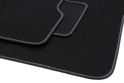 Preisvergleich Produktbild tuning-art B27 Auto Fußmatten Exclusive Bandeinfassung Steppnaht
