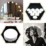 EEIEER Luci per specchietto di cortesia Stick on Strip Kit con 10 lampadine dimmerabili e USB Plug In, luci stile hollywood bianco LED per lampade da tavolo a specchio illuminate immagine