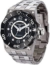 Jorg Gray Men's Quartz Watch with Black Dial Analogue Display and Silver Stainless Steel Bracelet JG9600-13