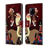 Head Case Designs Giocatolli Babbo Natale Magro Cover a Portafoglio in Pelle per Huawei Mate 20 PRO