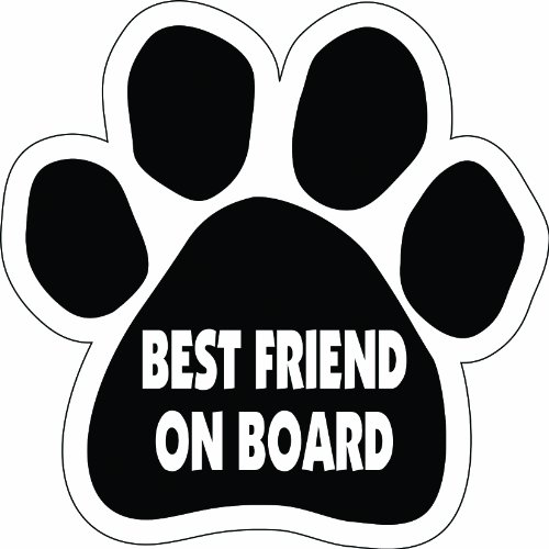Imagine This Paw Car Magnet, Best Friend on Board, 5-1/2-Inch by 5-1/2-Inch by Imagine This -