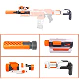 15000P Modification Kit: Décoration de Tube Avant + Lampe Tactique + Crosse Stock Nerf Modulus IonFire/Modulus ECS-10/Nerf Stryfe