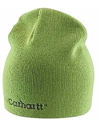 Carhartt Womens Rib Knit Beanie - Green Tea Ladies Solid Knit Hat CHWA007GTA