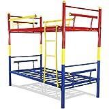 FurnitureKraft Barcelona Metal Tri Colour Bunk Bed
