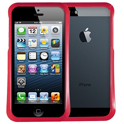 AirCase Gloss Series Bumper Case Cover Apple iPhone 5/5S [Strawberry Pink]  available at amazon for Rs.199