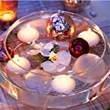 livecity 10 rund Rauchfreie Schwimmkerzen Hochzeit Party Home Hotel Romantische Decor, weiß, Mini