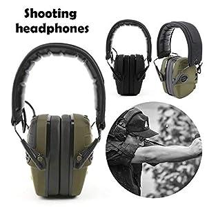 Außenaufnahmen Kopfhörer Kopfmontierter Jagd Ohrenschützer Schalldichte Ohrenschützer Kopfbedeckung Pick Up…