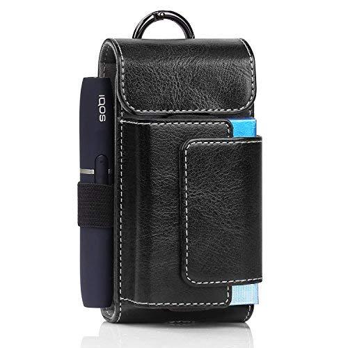 MoKo Porta Sigarette Elettroniche, Custodia Protettiva di Similpelle da Viaggio per E-Sigaretta e Accessori, Organizzatore da Cintura, Nero