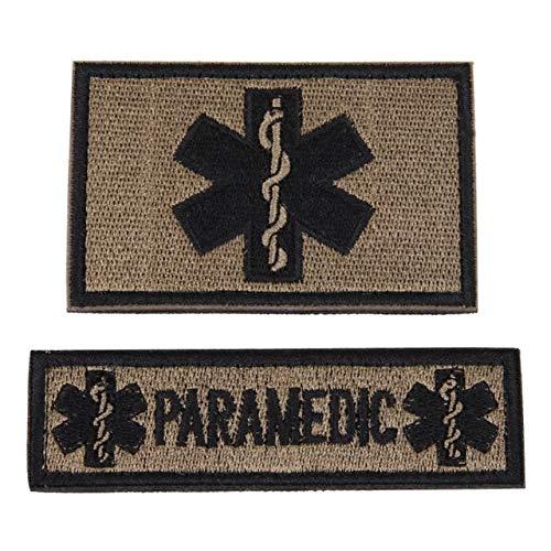 Shoppy Star Stickerei-Flicken für Notfall, medizinischer Techniker, Sanitäter, EMT, Bestickt, Militär, taktisches Armband, Abzeichen: Grün -