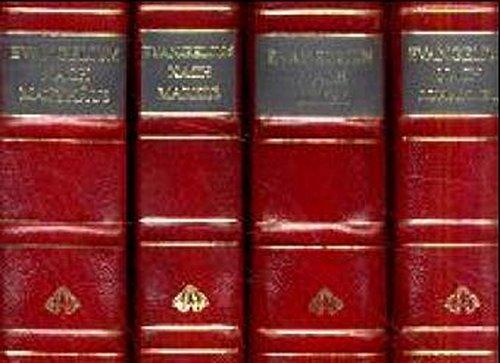 Luther, Die 4  Evangelien. 4 Bände in einer Kassette. (Bibel-kassette)