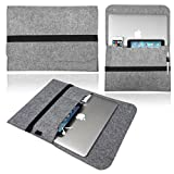 NXET® Laptop Sleeve for 15-Inch to 15.6-Inch NoteBook MacBook Pro/Pro Retina Display/Acer/Lenovo with iPhone/iPad Mini Case Cover (15 Inch, Light Grey)