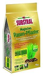 Substral Magisches Rasen-Pflaster - Rasenreparatur - Mischung aus Rasensamen, Premium Keimsubstrat und Dünger - 9 kg für bis zu 40 m²