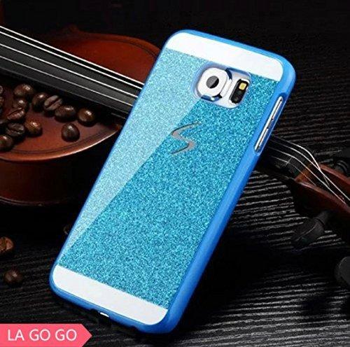 Galaxy S4 Case, LA GO GO(TM) Beauty Luxury Diamond Hybrid Glitter Bling Hard Shiny Sparkling with Crystal Rhinestone Cover Case for Samsung Galaxy S4 i9500 (Blue, Galaxy S4)