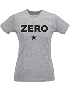 LaMAGLIERIA Camiseta Mujer Slim Zero Black Print - T-Shirt Smashing Pumpkins Rock Grunge 100% Algodòn Ring Spun