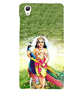A2ZXSERIES Lord God Krishna Back Case Cover for Vivo Y51 Y51L