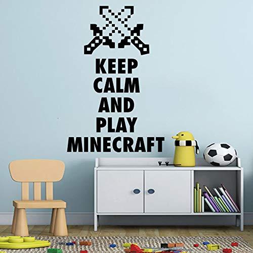 Minecraft Spiel Wand Poster My World Arrow Wandaufkleber Spiel Poster Aufkleber Removable Home Schlafzimmer Dekor38x57 cm ()