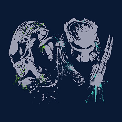 Alien Vs Predator Paint Splatter Men's Vest Navy Blue