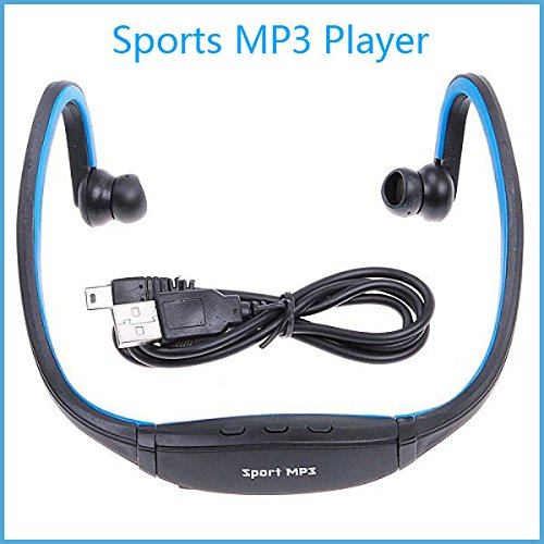 Captcha W200 Sports MP3 Player with Wireless FM and Micro SD Card Slot (Blue)