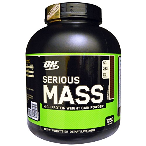 ON (Optimum Nutrition) Serious Mass, (Flavored-Chocolate)Net WT.6LB(2.72kg) With MRP Tagg And Whologram (Importer by-Bright Commodities)  available at amazon for Rs.3850