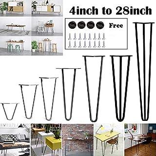 Hairpin Tischbeine – Stabile Standard-Tischhöhe Superior Doppelschweiß-Stahl – 10 cm bis 72 cm