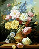Diy oil painting, paint by number kits- Elegant Flowers 16*20 inches.