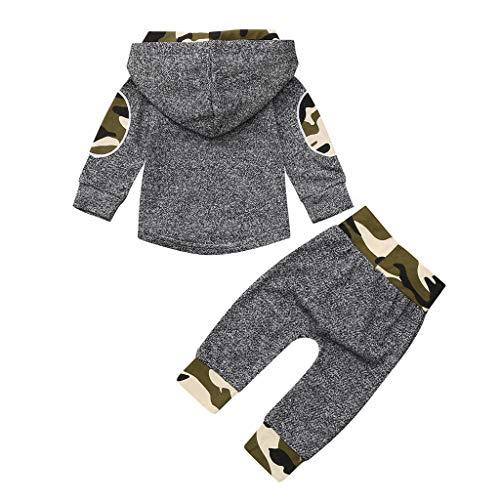 Robemon❤️Enfant Bébé Unisex Garçons Filles Camouflage Print Hoodie Pullover Tops+Pantalons Outfits Ensembles de Fille Ensembles de Bébé